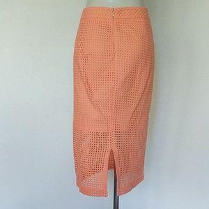Trina Turk Skirts - Trina Turk Grid eyelet pencil skirt